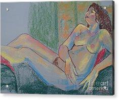 Pastel Nude Acrylic Print
