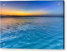 Pastel Ocean Acrylic Print by Chad Dutson