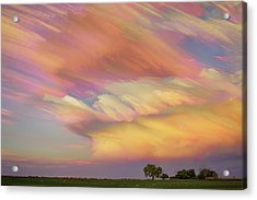 Acrylic Print featuring the photograph Pastel Painted Big Country Sky by James BO Insogna