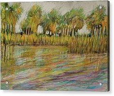 Pastel Palms Acrylic Print by Michele Hollister - for Nancy Asbell