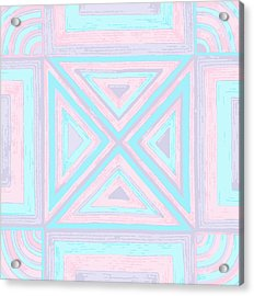 Acrylic Print featuring the drawing Pastel Patchwork by Jill Lenzmeier