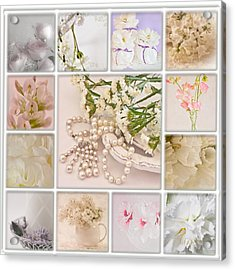 Pastel Photo Collage  Acrylic Print by Sandra Foster