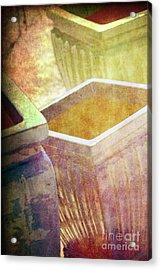 Pastel Pottery Acrylic Print by Susanne Van Hulst