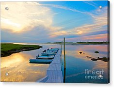 Pastel Reflections On Cape Cod Acrylic Print
