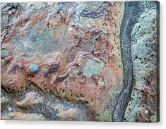 Pastel Rock Patterns Acrylic Print
