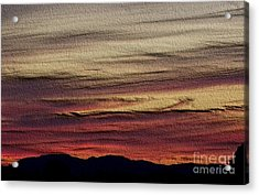 Pastel Sunset - Embossed Acrylic Print by Erica Hanel
