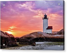 Pastel Sunset, Annisquam Lighthouse Acrylic Print