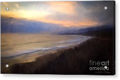 Acrylic Print featuring the photograph Pastel Sunset by John A Rodriguez
