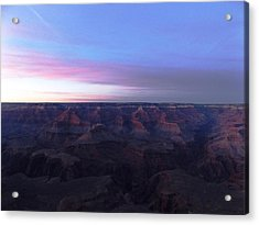 Pastel Sunset Over Grand Canyon Acrylic Print by Adam Cornelison