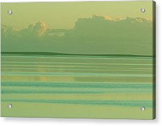 Pastel Sunset Sea Green Acrylic Print