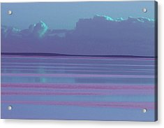 Pastel Sunset Sea Lilac Acrylic Print