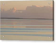 Pastel Sunset Sea Original Acrylic Print