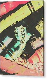 Pastel Toned Crayons Acrylic Print