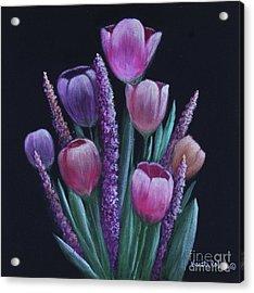 Pastel Tulips Acrylic Print