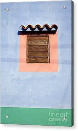 Acrylic Print featuring the photograph Pastel Wall Gran Roque Venezuela by John  Mitchell