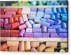 Pastels Acrylic Print by Edward Fielding