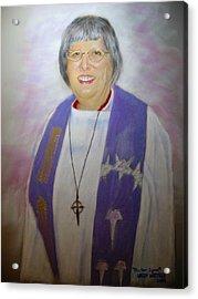 Pastor Lynn Acrylic Print by Larry Whitler