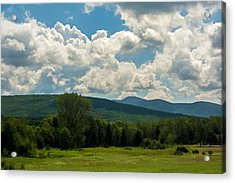 Pastoral Landscape With Mountains Acrylic Print