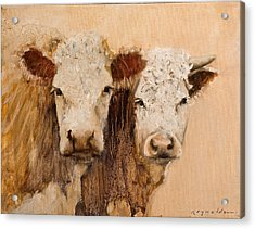 Acrylic Print featuring the painting Pasture Buddies by John Reynolds