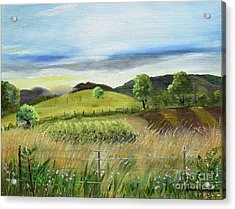 Pasture Love At Chateau Meichtry - Ellijay Ga Acrylic Print