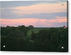 Pasture Scene Acrylic Print by Linda Ostby