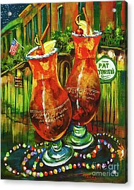 Pat O' Brien's Hurricanes Acrylic Print by Dianne Parks