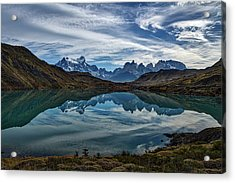 Patagonia Lake Reflection - Chile Acrylic Print