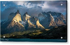 Acrylic Print featuring the photograph Patagonian Sunrise by Andrew Matwijec