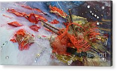 Acrylic Print featuring the painting Patches by Terri Thompson