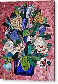 Patchwork Bouquet Acrylic Print by Sarah Loft