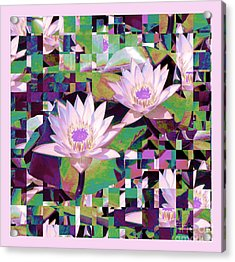 Patchwork Quilt Acrylic Print by Karen Lewis