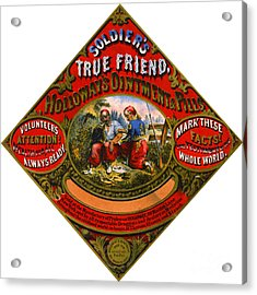 Acrylic Print featuring the photograph Patent Medicine Label 1862 by Padre Art