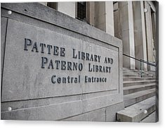 Paterno Library At Penn State  Acrylic Print by John McGraw