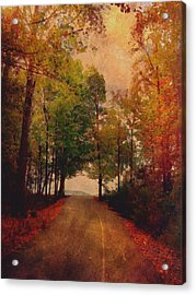 Path Into Autumn Acrylic Print