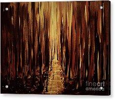 Path Of Gold Acrylic Print