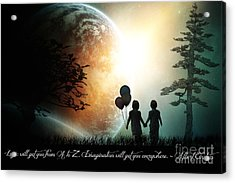 Path Of Imagination Acrylic Print by Eugene James
