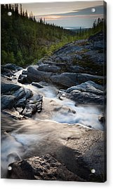 Path Of Water Acrylic Print