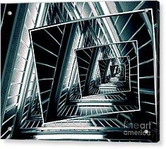 Path Of Winding Rails Acrylic Print