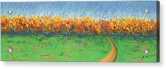 Path To Autumn Trees Acrylic Print