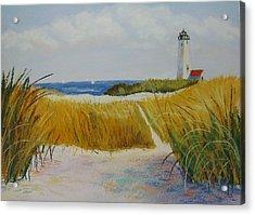 Path To Lighthouse Acrylic Print