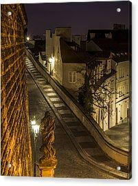 Path To Prague Castle Acrylic Print by Marek Boguszak