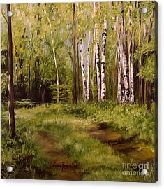 Path To The Birches Acrylic Print