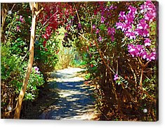 Acrylic Print featuring the digital art Path To The Gardens by Donna Bentley