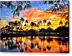 Acrylic Print featuring the digital art Path To The Sea by DJ Florek