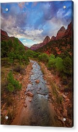Acrylic Print featuring the photograph Path To Zion by Darren White