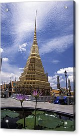 Pathway Through Ancient Buddhist Acrylic Print by Richard Nowitz