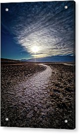 Pathway To Death Valley  Acrylic Print by Bryan Moore