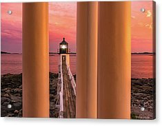 Acrylic Print featuring the photograph Marshall Point - Beacon Of Light by Expressive Landscapes Fine Art Photography by Thom