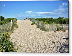 Acrylic Print featuring the photograph Pathway To The Beach - Delaware by Brendan Reals