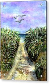 Pathway To The Shore Acrylic Print by Dina Sierra